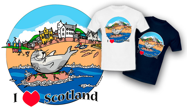 I love Scotland t-shirt